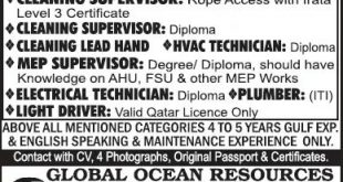 Cleaning jobs in QATAR