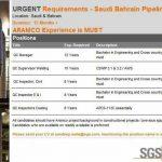 Pipeline Project gulf job vacancies