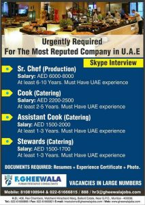 SKYPE INTERVIEWS for DUBAI jobs