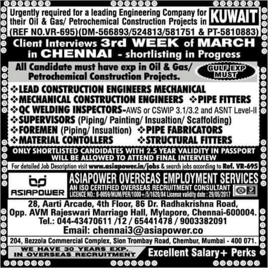 construction jobs in kuwait