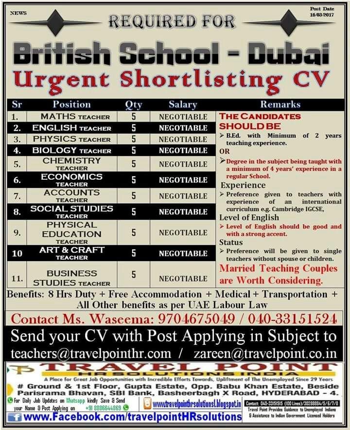 Teaching Jobs In Dubai - Lawteched
