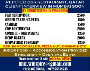 HIGH SALARY RESTAURANT JOBS