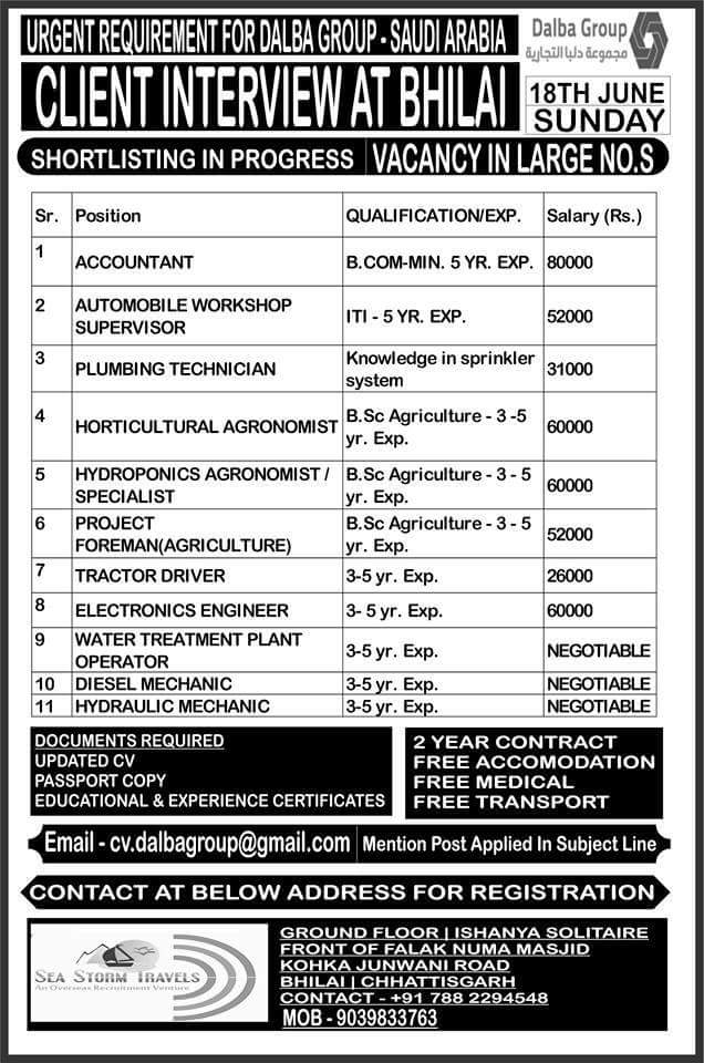 JOB VACANCIES IN KSA