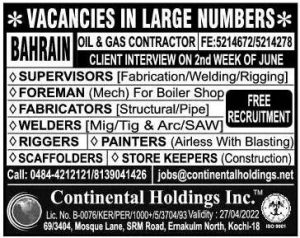 Jobs in Bahrain employment