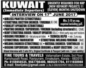 KUWAIT NEW JOB VACANCIES