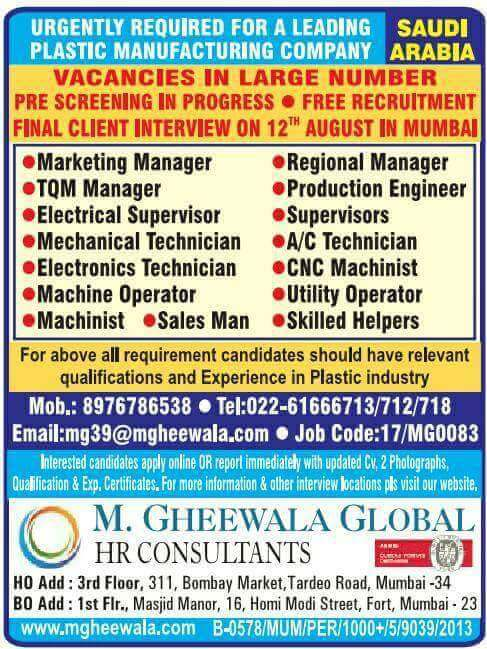 WALK IN INTERVIEW FOR ABROAD