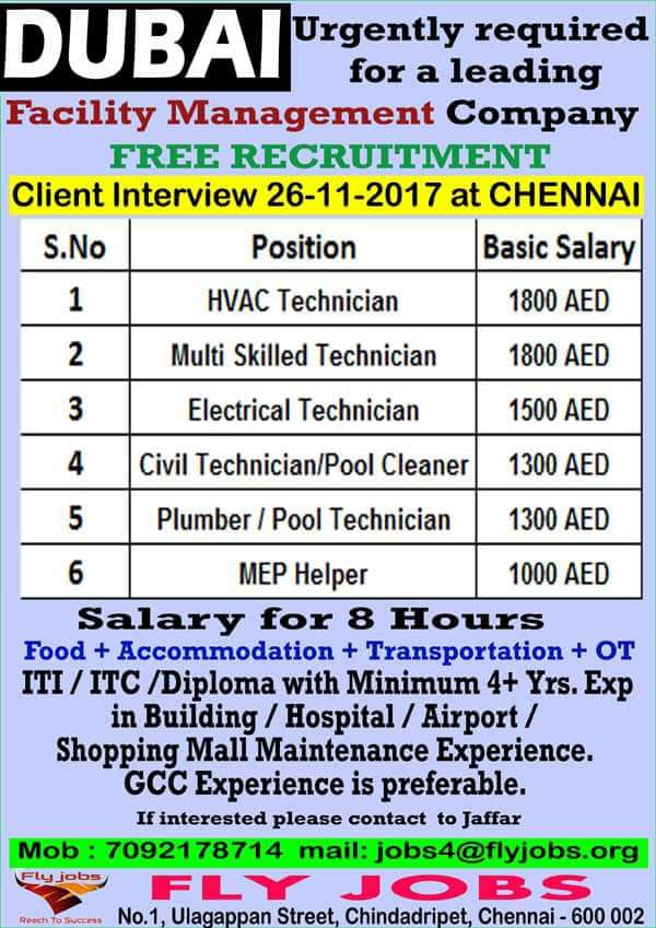 DUBAI CLIENT INTERVIEW IN CHENNAI