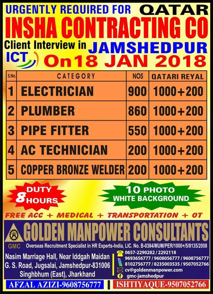 JOBS IN JAMSHEDPUR