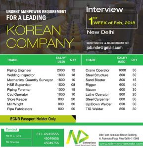 WALK IN INTERVIEW IN DELHI 2018