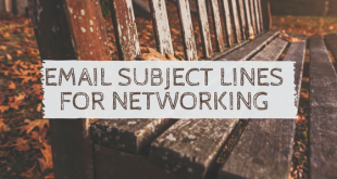 email subject lines for networking