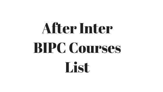 After Inter BIPC Courses 2018