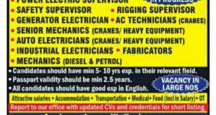 gulf job vacancies news paper