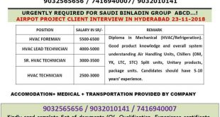WALK IN INTERVIEW IN HYDERABAD