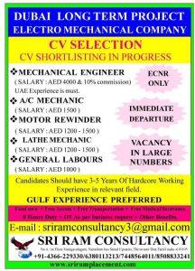 CV SELECTION TELEPHONIC INTERVIEWS