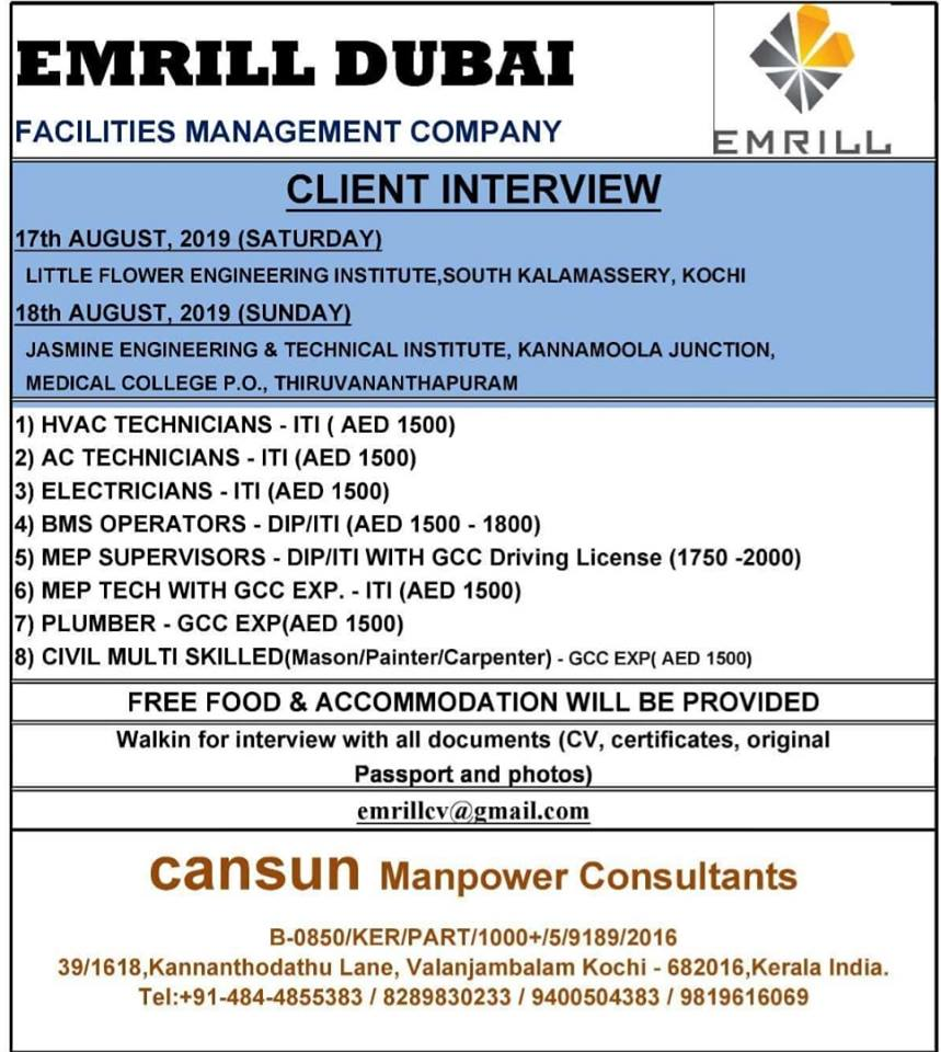 NRI TIMES GULF JOBS 2019 September 7, 2019