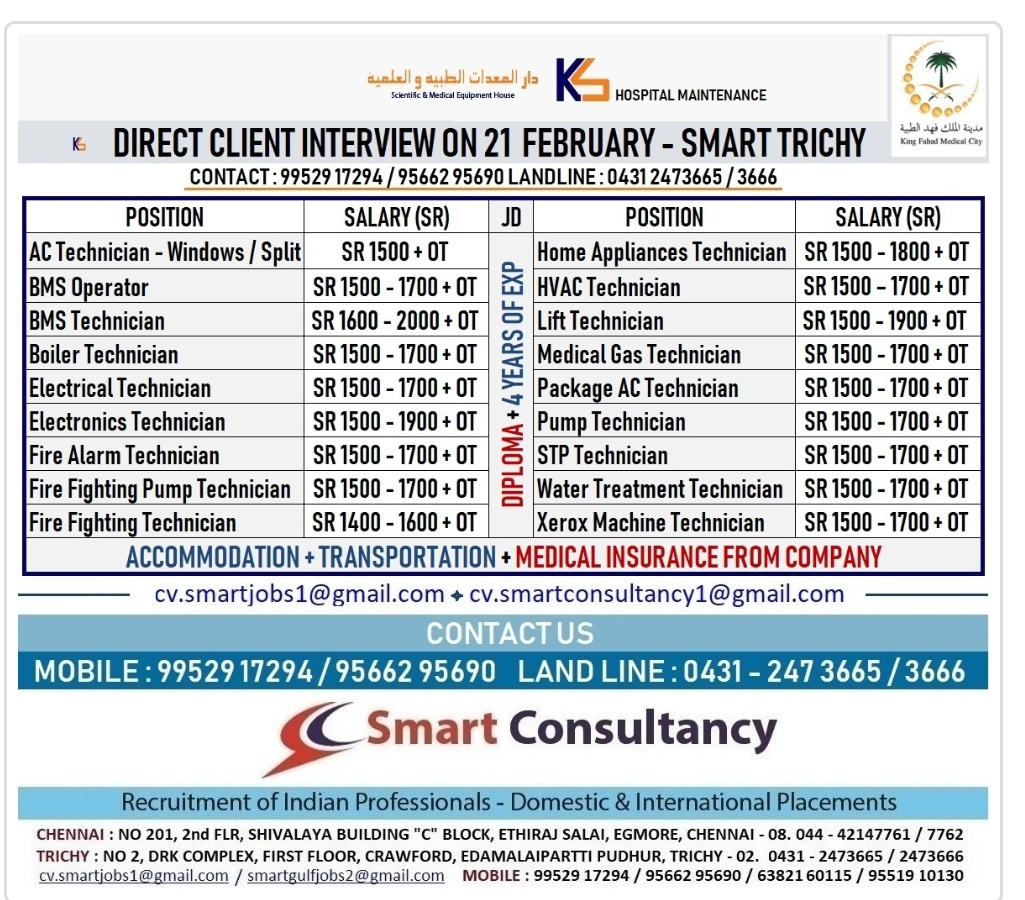 SMART CONSULTANCY CLIENT INTERVIEW AT TRICHY