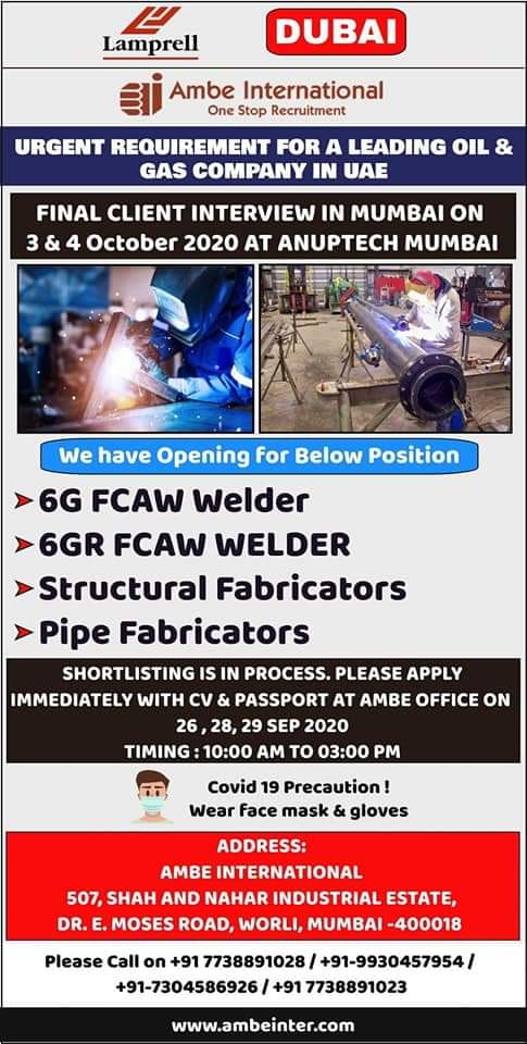 WALK-IN INTERVIEW AT MUMBAI FOR LEADING OIL GAS COMPANY