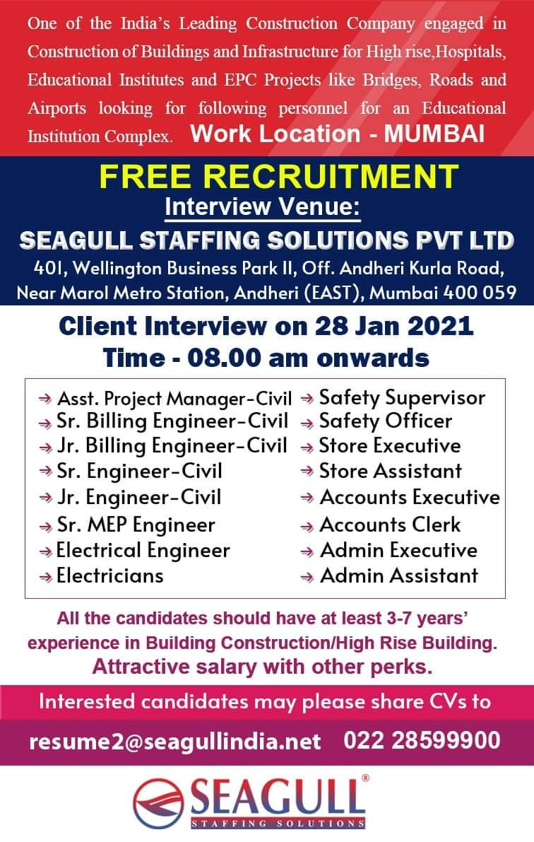WALK-IN INTERVIEW AT MUMBAI FOR MUMBAI