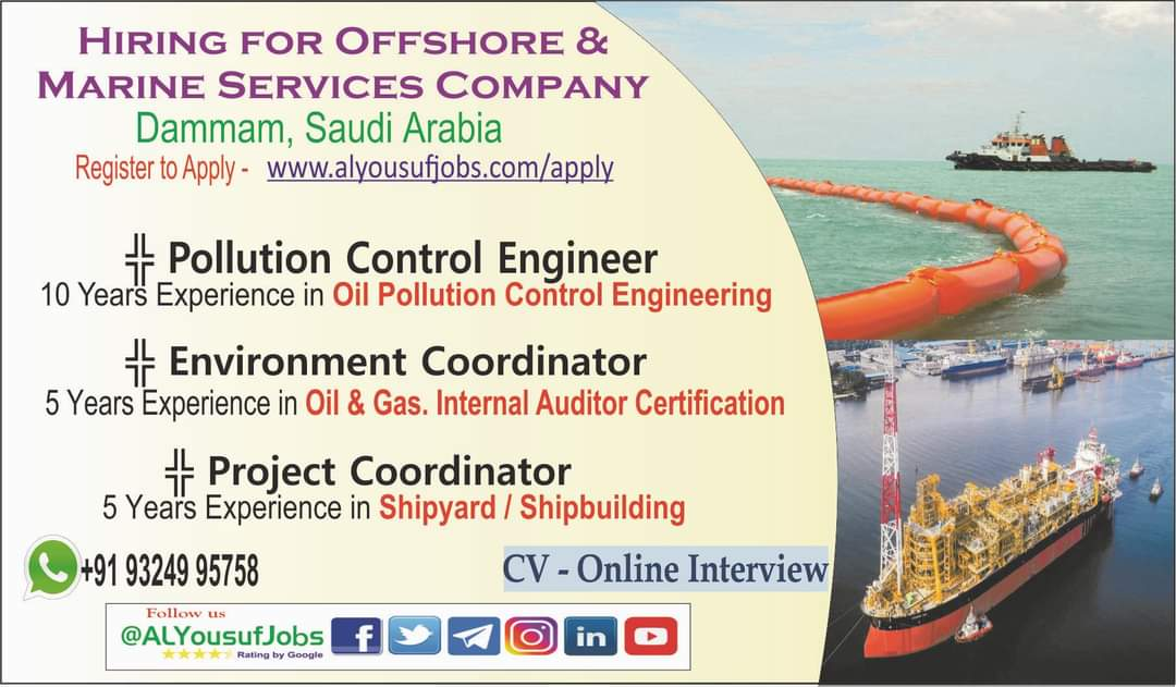 WALK-IN-INTERVIEW IN MUMBAI FOR A OFFSHORE & MARINE COMPANY AT SAUDI ARABIA