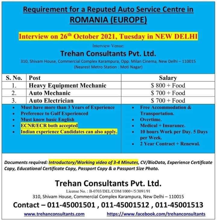 WALK IN INTERVIEW AT MUMBAI FOR ROMANIA