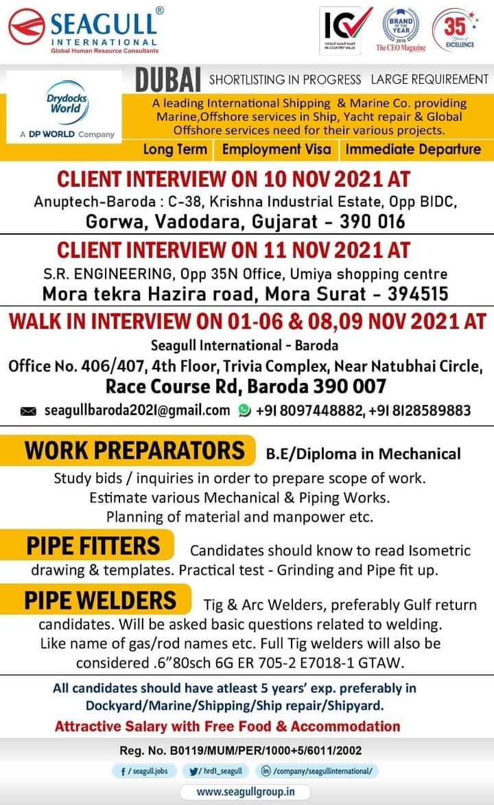 WALK IN INTERVIEW AT MUMBAI FOR DUBAI